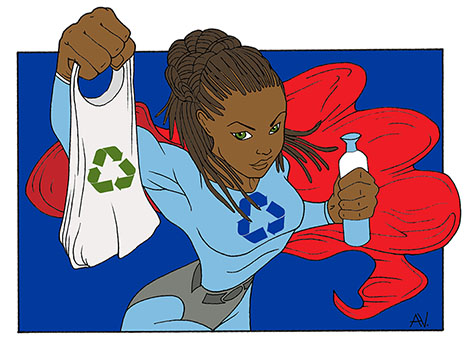 Illustratie_superrecyclewoman